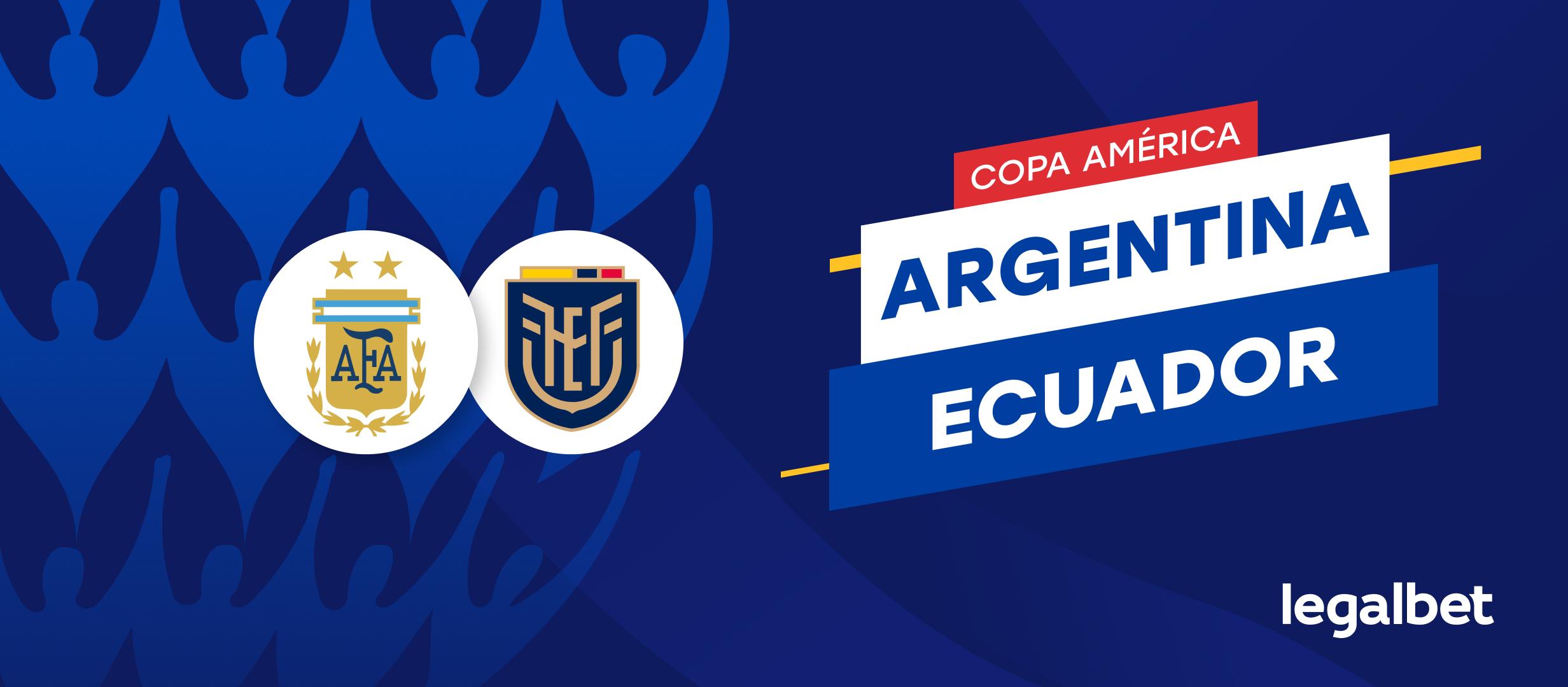 Apuestas y Cuotas Argentina - Ecuador, Copa América 2021