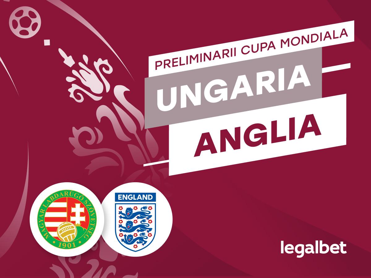 Cristian M: Ungaria - Anglia, preliminariile CM 2022: duelul primelor două clasate în Grupa I.
