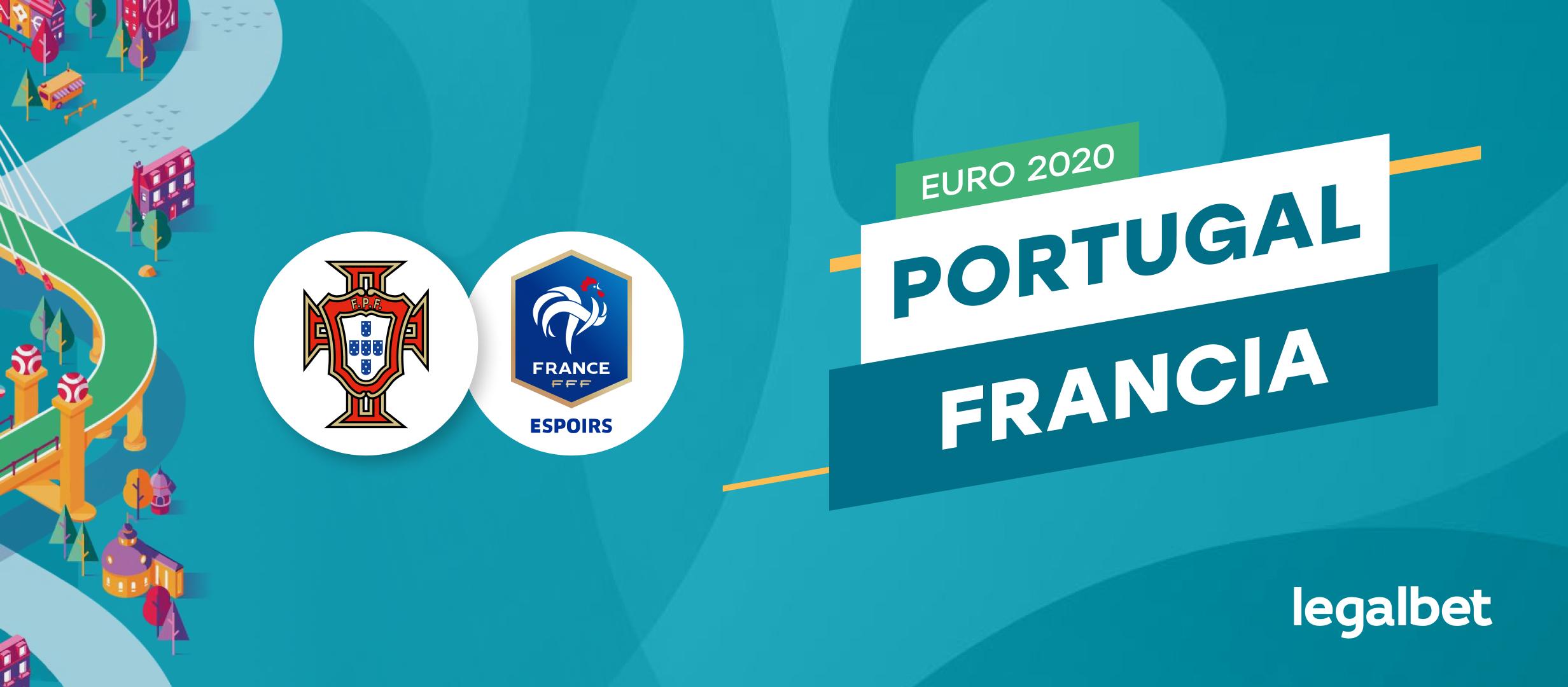 Apuestas y cuotas Portugal - Francia, Euro 2020