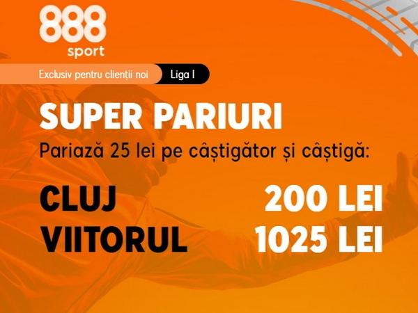 """legalbet.ro: """"Strâmbu'"""" vrea 3 puncte la Cluj cu CFR. Profită acum de cota gigantică oferită de 888 Sport!."""