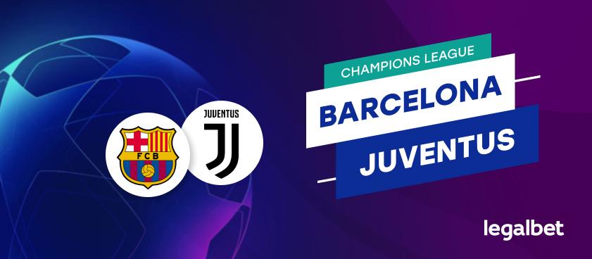 Apuestas y cuotas Barcelona - Juventus, Champions League 2020/21