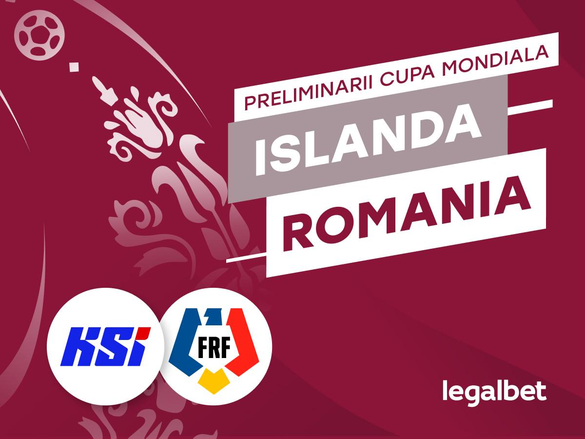 Islanda - Romania: cote la pariuri si statistici