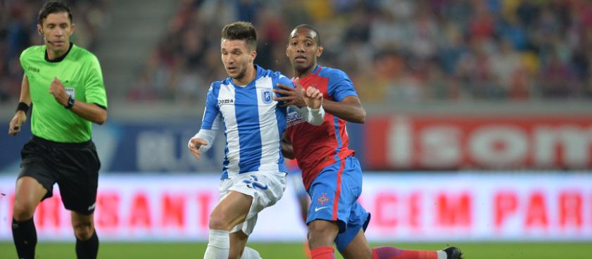 CS U Craiova - FCSB, duel important in economia campionatului