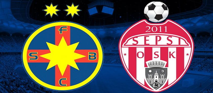 FCSB - Sepsi Sfantu Gheorghe: cote la pariuri si statistici