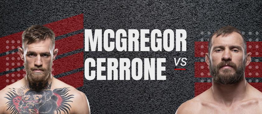 McGregor- Cerrone: Bets on the Main Fight UFC 246