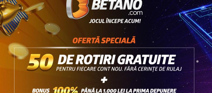 Nou! Bonus Betano Cazino pana pe 10 August