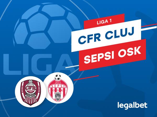 Karbacher: CFR Cluj - Sepsi Sfântu Gheorghe: cote la pariuri şi statistici.