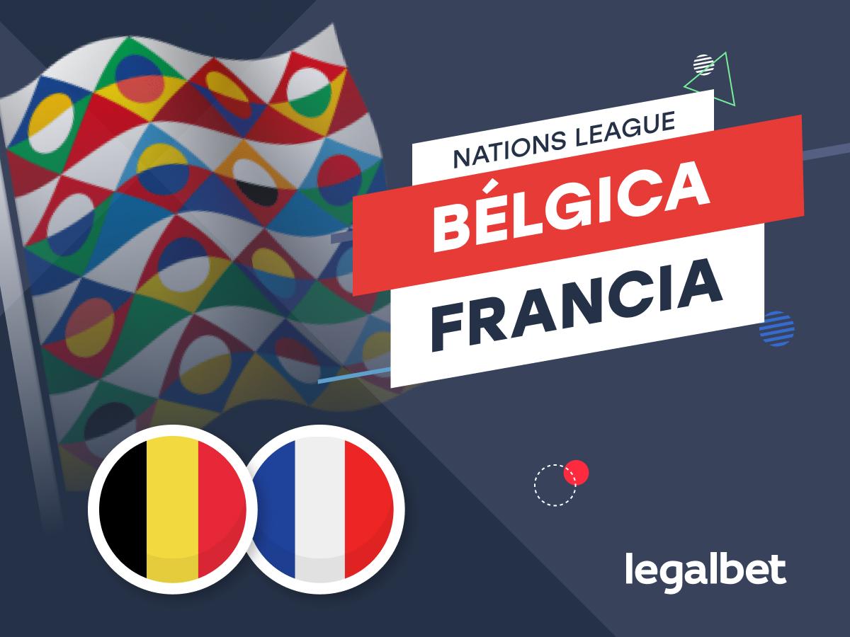 Antxon: Apuestas y cuotas Bélgica - Francia, Nations League 2021/22.