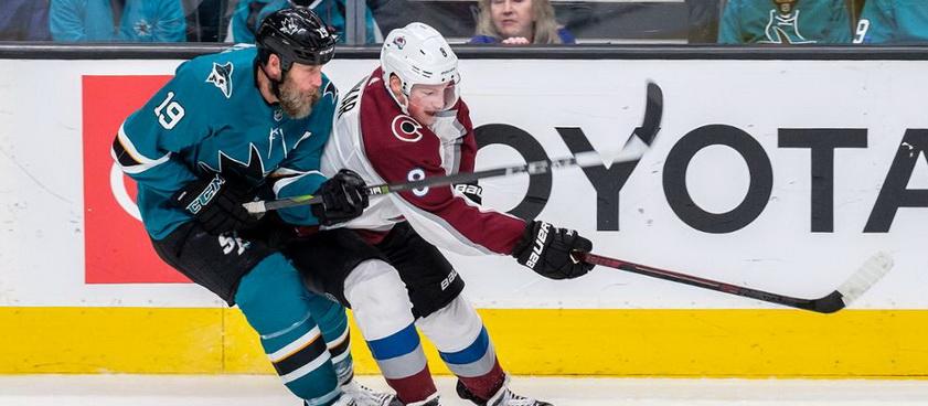 San Jose Sharks - Colorado Avalanche: Ponturi hochei NHL