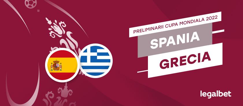 Spania - Grecia, ponturi la pariuri din preliminariile Campionatului Mondial