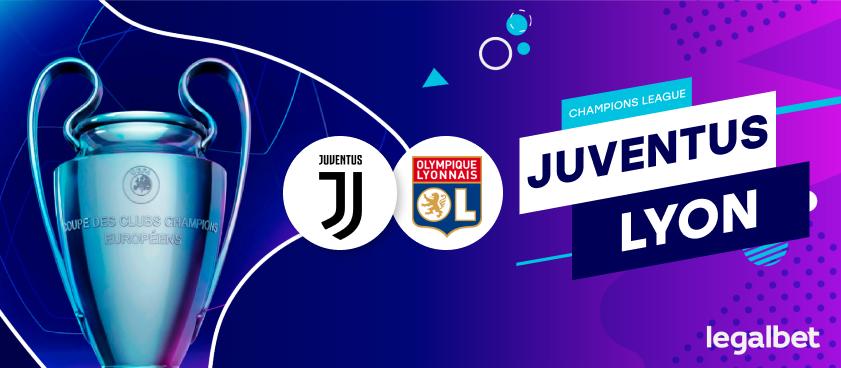 Previa, análisis y apuestas Juventus - Lyon, Champions League 2020