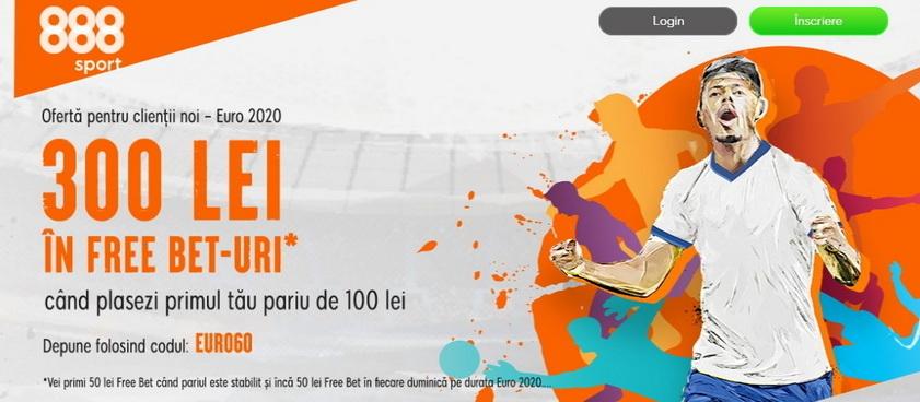 888 Sport are o noua oferta pentru clientii noi, 300 lei in Free Bet-uri