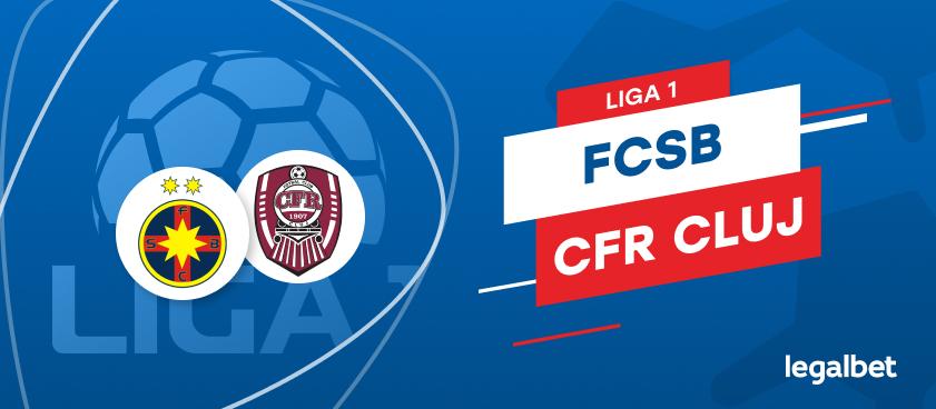 FCSB - CFR Cluj: cote la pariuri şi statistici