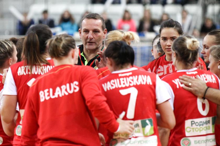 Матч отбора на чемпионат Мира по гандболу среди женщин Беларусь-Норвегия.