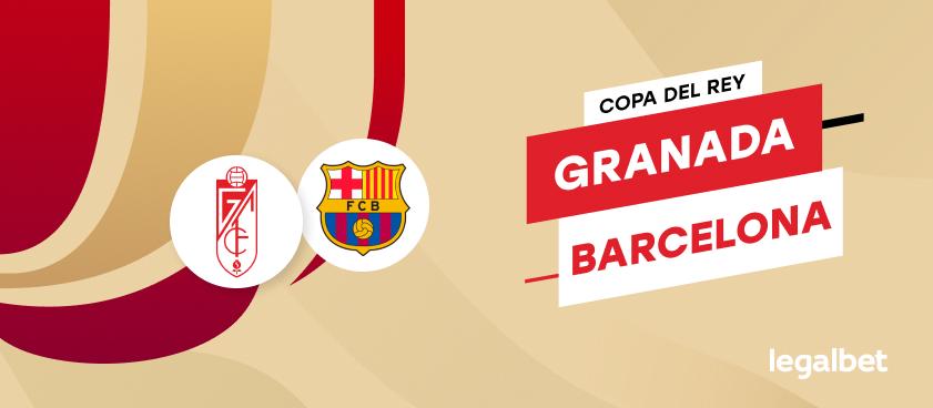 Apuestas y cuotas Granada - Barcelona, Copa del Rey 2020/21