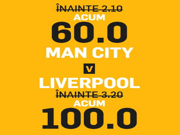 legalbet.ro: Cote uriase pentru un meci urias, Manchester City vs Liverpool.