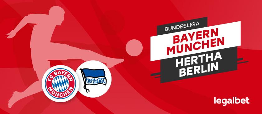 Bayern Munchen vs Hertha Berlin- avancronica si ponturi pariuri