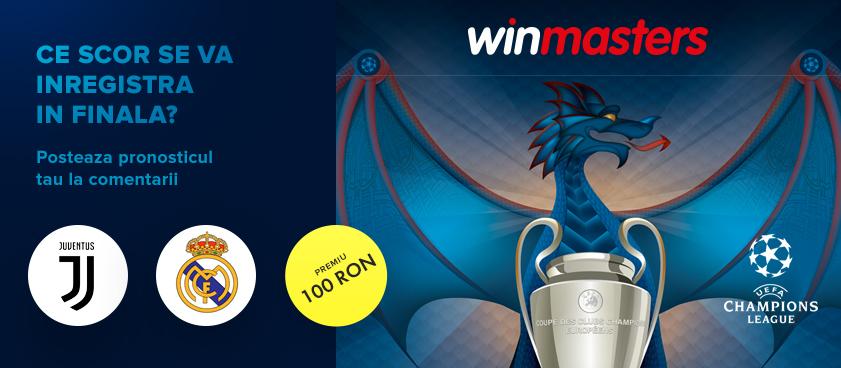 Ghiceste scorul finalei Ligii Campionilor si castiga 100 RON!