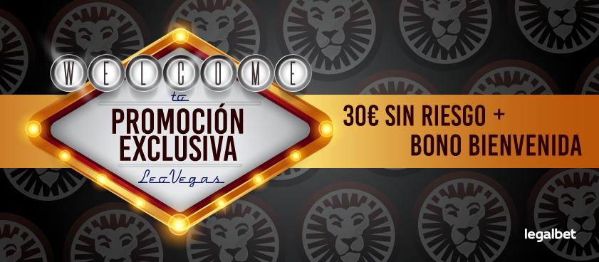 Promoción exclusiva LeoVegas - 30€ GRATIS ¡sin riesgo! + Bono Bienvenida