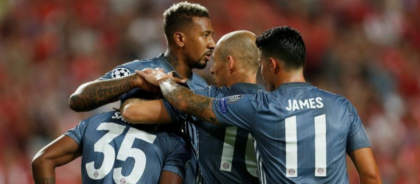 Pronóstico Bayern Munich - Benfica, Manchester United - Young Boys 2018