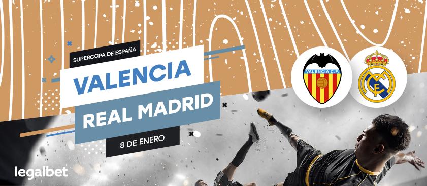Previa, análisis y apuestas Real Madrid- Valencia CF, Supercopa de España 2020