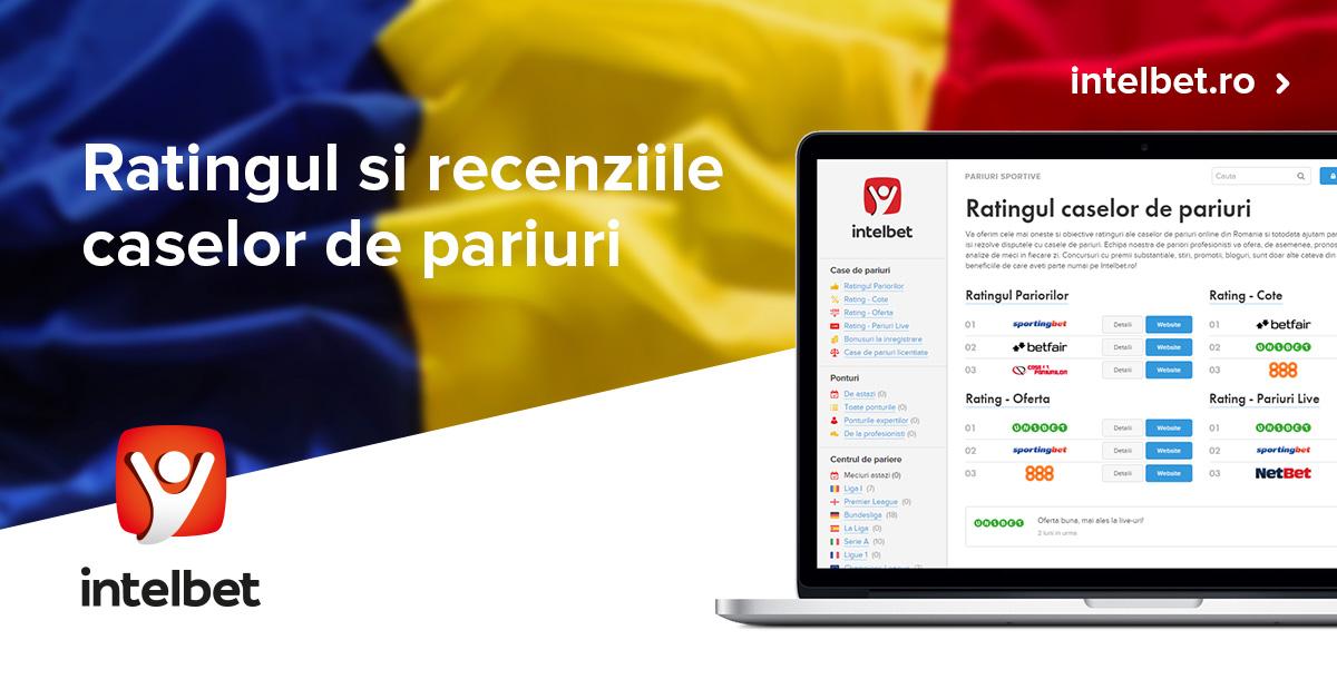 Am adaugat o noua casa de pariuri online in ratingurile Intelbet!