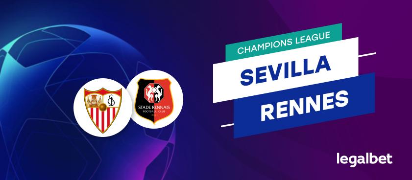 Apuestas y cuotas Sevilla - Stade Rennais, Champions League 2020/21