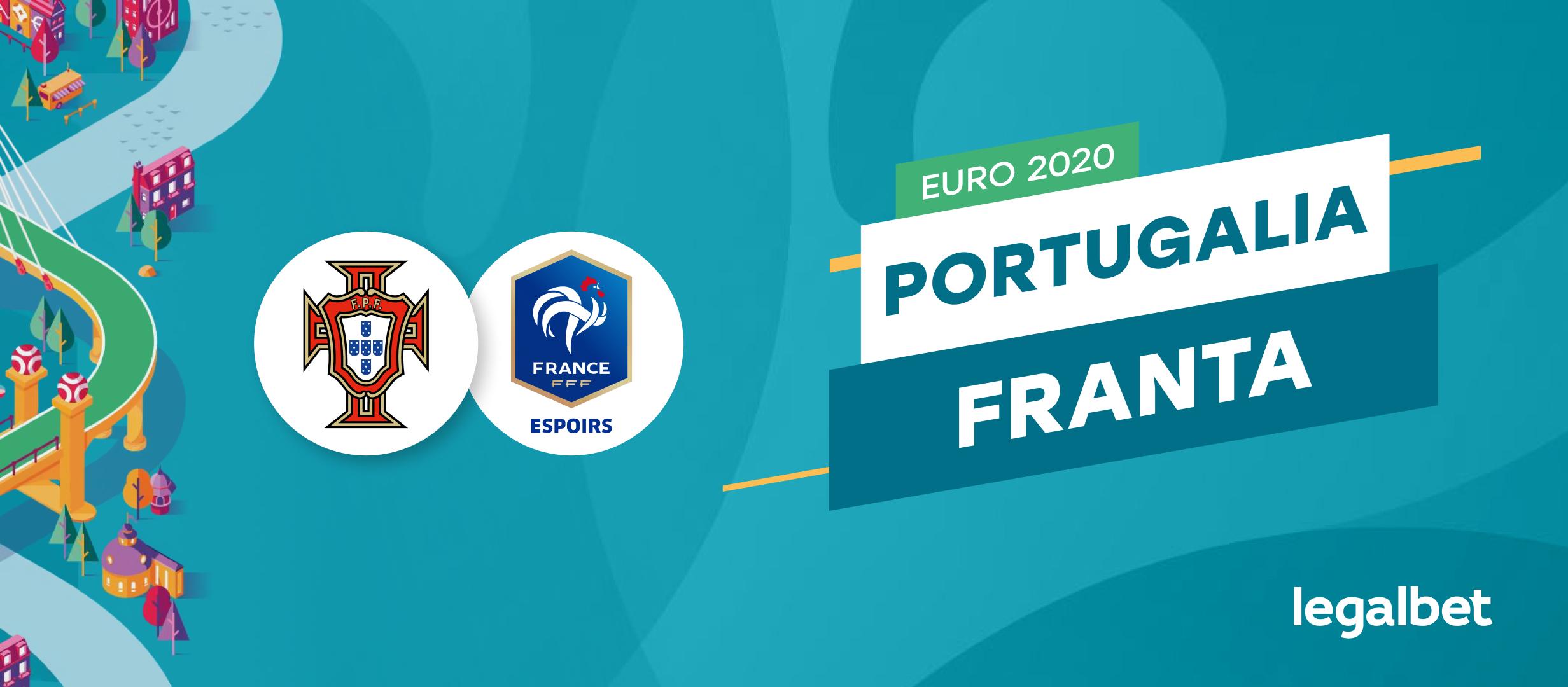 Portugalia - Franta: cote la pariuri si statistici