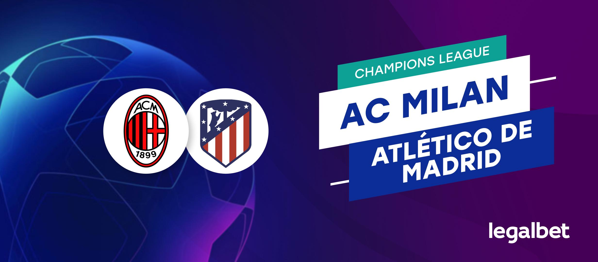 Apuestas y cuotas AC Milan - Atlético de Madrid, Champions League 2021/22