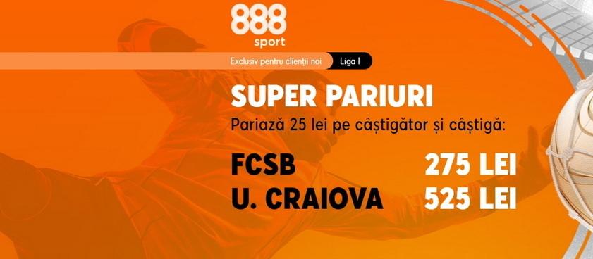 FCSB - Universitatea Craiova, un meci cu orgolii mari şi cote pe măsură