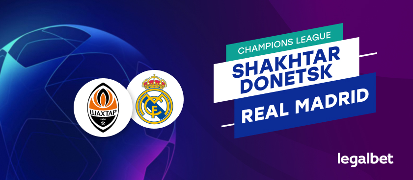Apuestas y cuotas Shakhtar Donetsk - Real Madrid, Champions League 2020/21