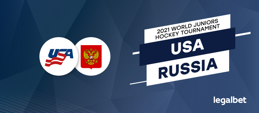 USA vs. Russia: 2021 World Juniors Hockey