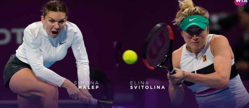 Simona Halep vs Elina Svitolina, meciul zilei din tenis