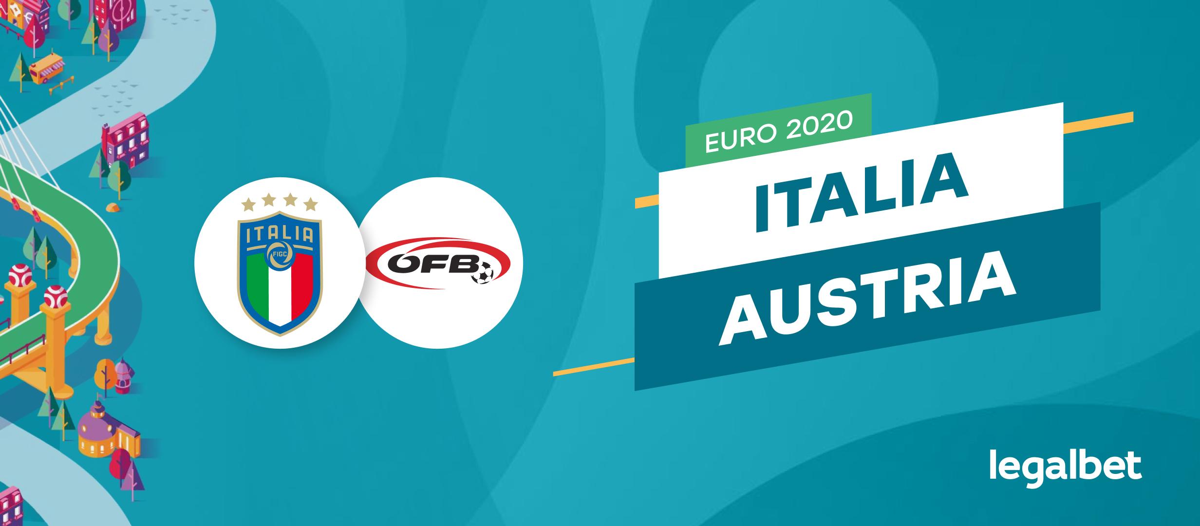 Apuestas y cuotas Italia - Austria, EURO 2020