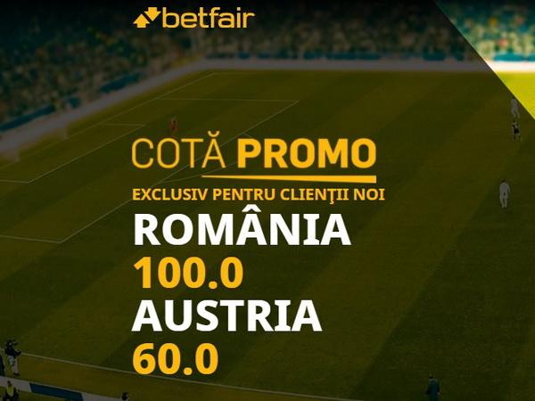 legalbet.ro: Asta da promoţie! Cote COLOSALE pentru meciul România - Austria.