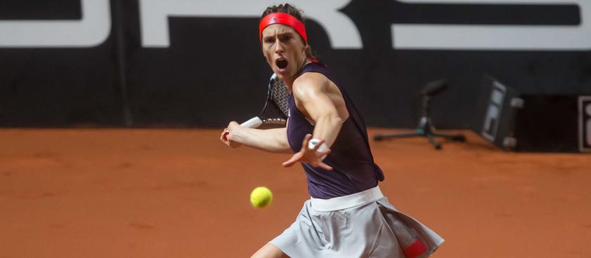 WTA Rome квалификация Саккари М.-Петкович А.Бодибилдерша Победит?