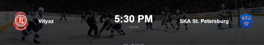 Прогноз и ставка на матч  Витязь - СКА 11 ноября 2016