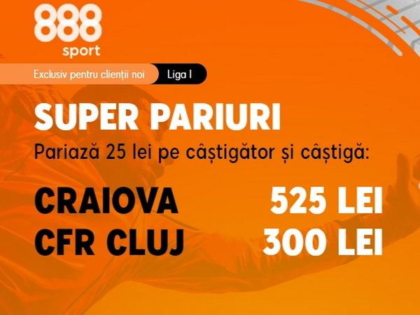 legalbet.ro: Pariaza pe cote deosebite la meciul U Craiova - CFR Cluj din play-off.