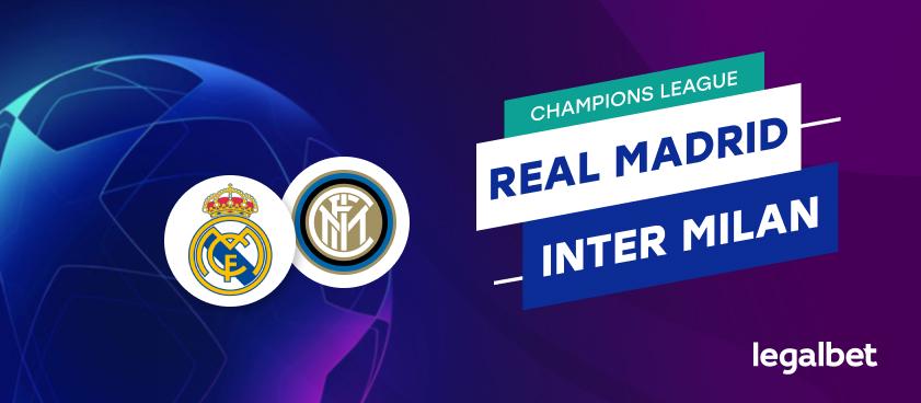 Apuestas y cuotas Real Madrid - Inter Milán, Champions League 2020/21
