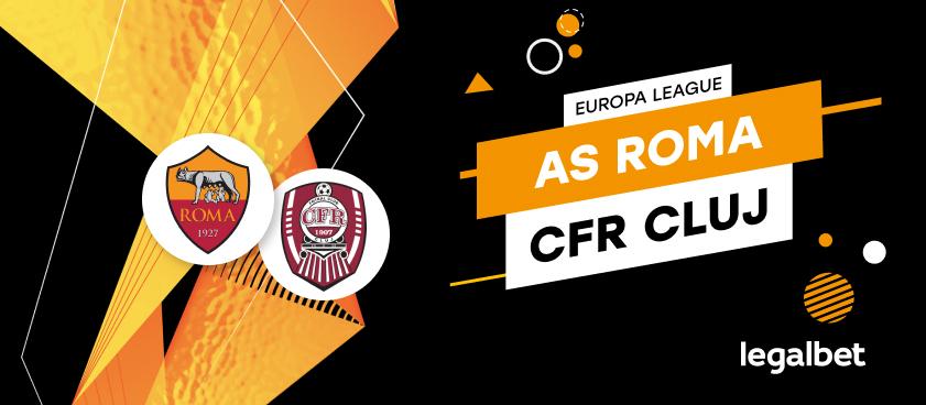 AS Roma - CFR Cluj: cote la pariuri şi statistici