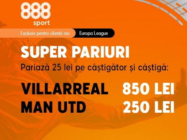 legalbet.ro: Ai cote uluitoare la 888 Sport, demne de o finală de Europa League!.