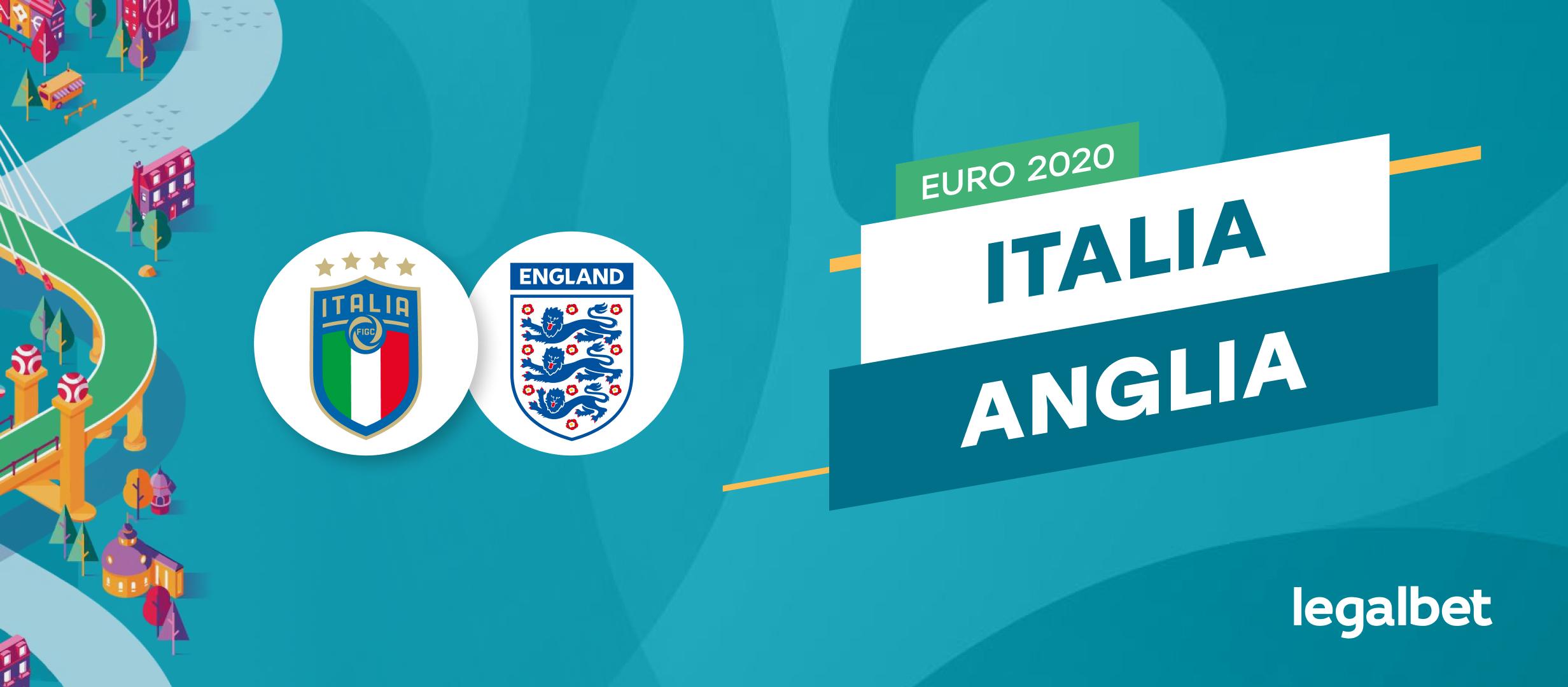 Italia - Anglia: cote la pariuri si statistici