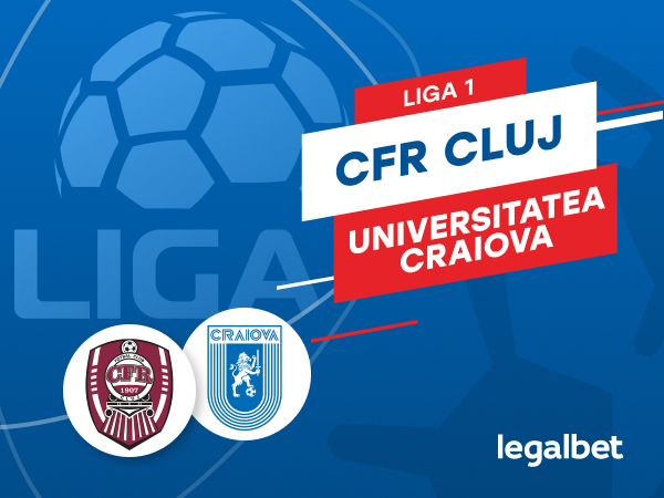 Karbacher: CFR Cluj - Universitatea Craiova: cote la pariuri si statistici.