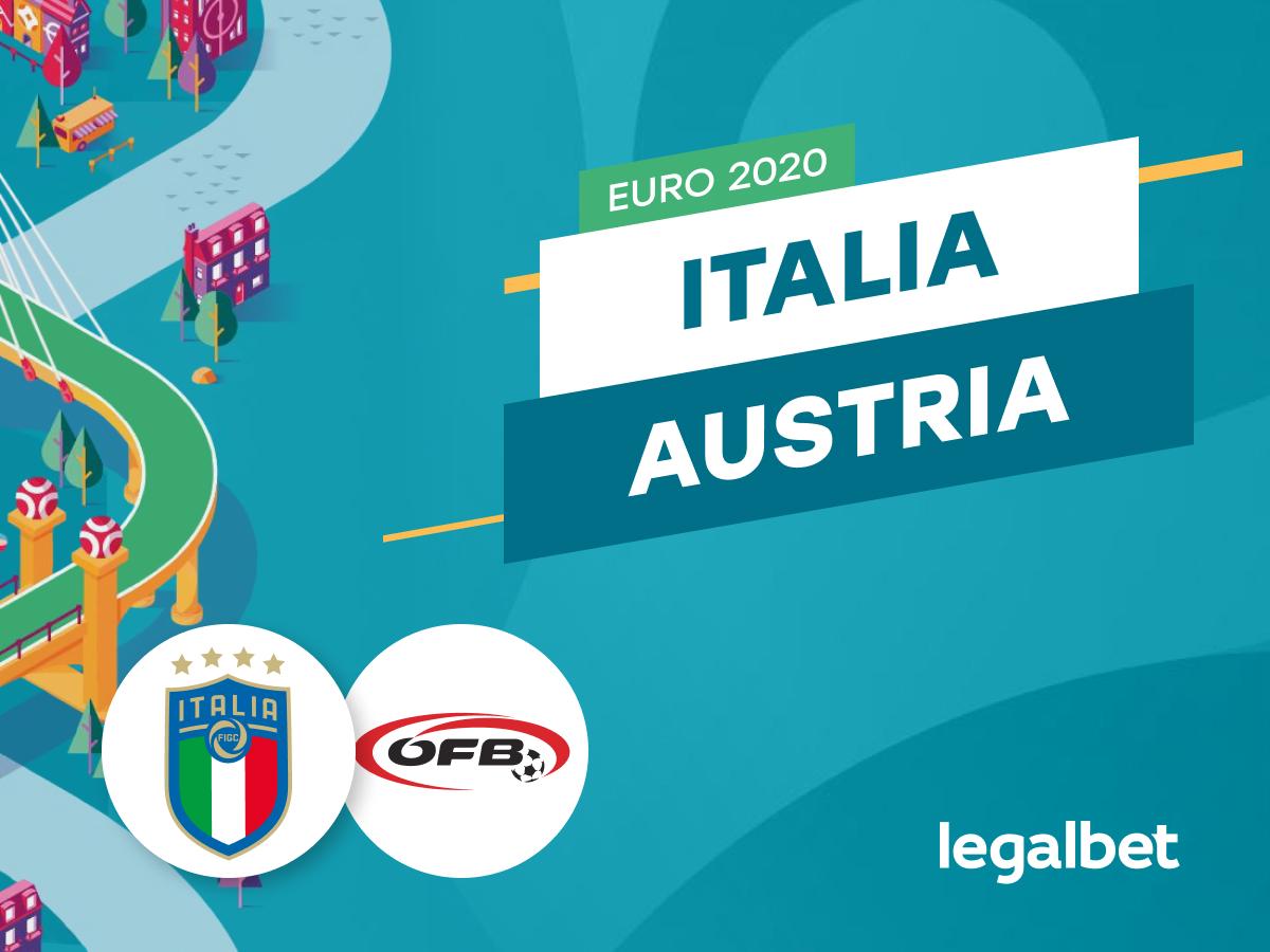 Mario Gago: Apuestas y cuotas Italia - Austria, EURO 2020.