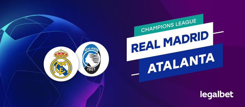 Apuestas y cuotas Real Madrid - Atalanta, Champions League 2020/21