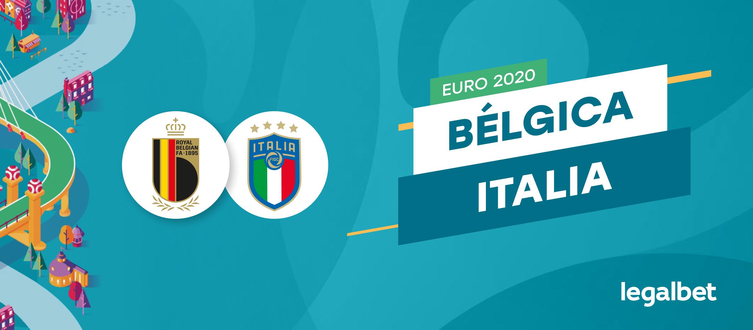 Apuestas y cuotas Bélgica - Italia, EURO 2020