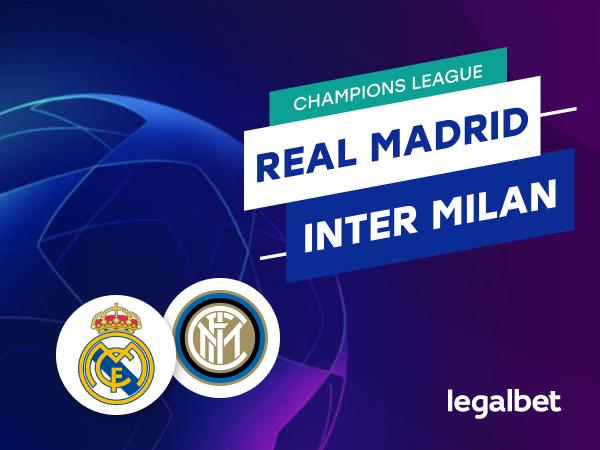 Mario Gago: Apuestas y cuotas Real Madrid - Inter Milán, Champions League 2020/21.