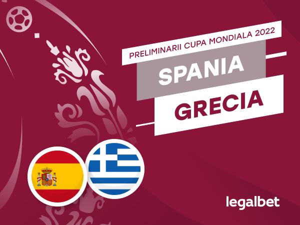 Cristian M: Spania - Grecia, ponturi la pariuri din preliminariile Campionatului Mondial.