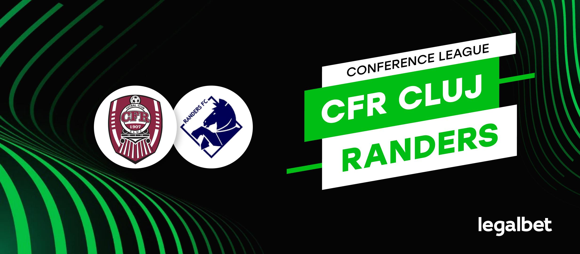 CFR Cluj - FC Randers: cote la pariuri si statistici