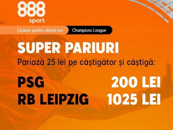 """legalbet.ro: RB Leipzig vrea să o scoată pe PSG din Champions League! Ai cota 41.00 pentru o victorie pe """"Parc des Princes""""!."""